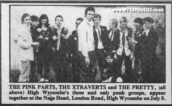 Bands at punk night at Nag's Head 1977